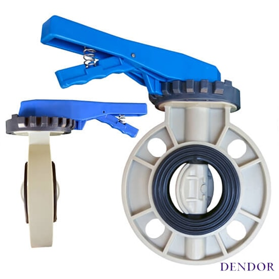 Затвор поворотный дисковый тип 031PW межфланцевый ПВХ