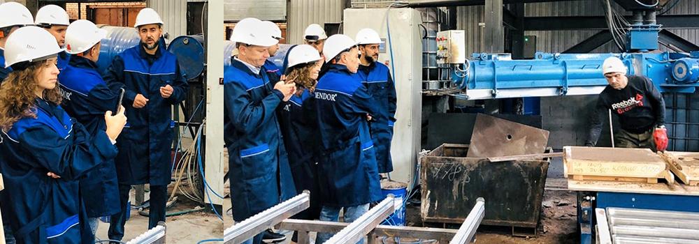 Гости на производстве Дендор